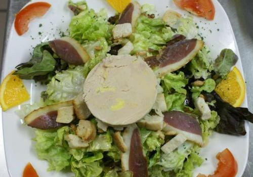 salade fondante au foie gras
